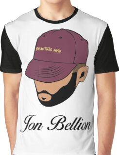 Jon Bellion face beautiful mind with text Graphic T-Shirt