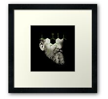 when i grow up i want to be the barfly in the ointment of entropy Framed Print