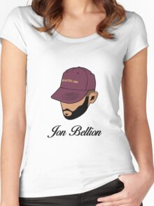 Jon Bellion face beautiful mind with text Women's Fitted Scoop T-Shirt