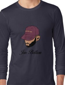 Jon Bellion face beautiful mind with text Long Sleeve T-Shirt