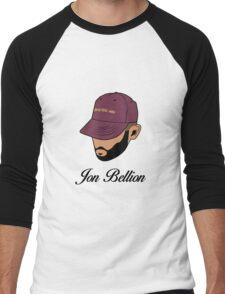 Jon Bellion face beautiful mind with text Men's Baseball ¾ T-Shirt