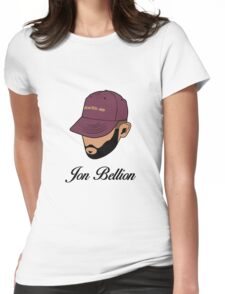 Jon Bellion face beautiful mind with text Womens Fitted T-Shirt