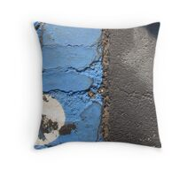 Blue Asphalt 14 Throw Pillow