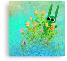 green bunny Canvas Print