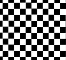 checker design Sticker