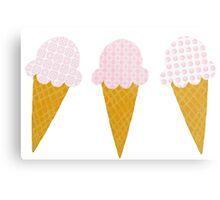 Strawberry Ice Cream Cones Metal Print
