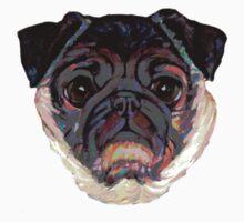 Pug O my Heart ~ Face ~ Poster One Piece - Short Sleeve