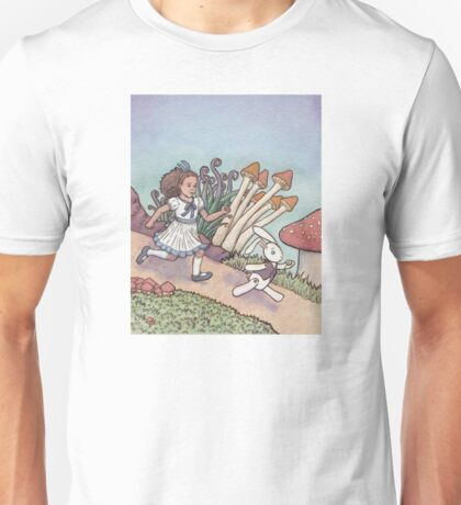 Alice Chased the White Rabbit Unisex T-Shirt
