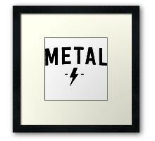 Metal Rock Framed Print