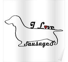 Sausage Dog Miniature Dachshund Gifts Poster