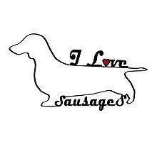 Sausage Dog Miniature Dachshund Gifts Photographic Print