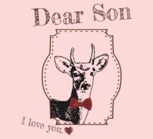 Deer Middle Son - I love my dear family Kids Tee