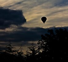 Air balloon over the sunset by chris7ina2