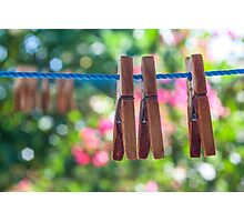 Clothes' pins Photographic Print