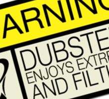 Dubstep Warning Sticker