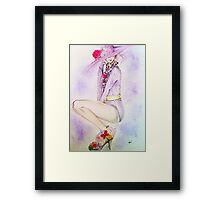 Lady in hat  Framed Print