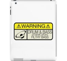 Drum & Bass Warning iPad Case/Skin