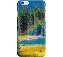 Rainbow over the Mistaya River iPhone Case/Skin