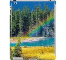 Rainbow over the Mistaya River iPad Case/Skin