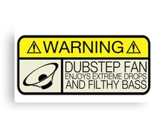 Dubstep Warning Canvas Print