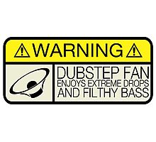 Dubstep Warning Photographic Print