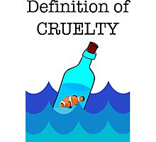 The Definition of Cruelty. Photographic Print