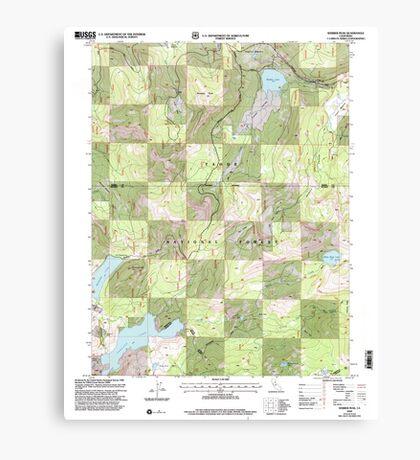 USGS TOPO Map California CA Webber Peak 102408 2000 24000 geo Canvas Print