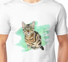 American Shorthair Cat Watercolor Painting Unisex T-Shirt