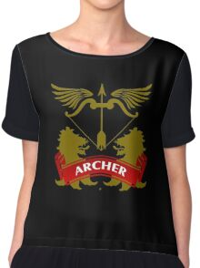The Archer Coat-of-Arms Chiffon Top