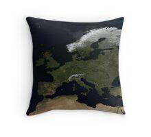 European NASA World Map Throw Pillow