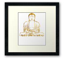 Golden Buddha Zen Meditation Framed Print
