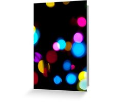 abstract  lights background Greeting Card