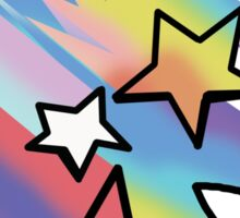 Reach For The Rainbow Shooting Stars   Sticker