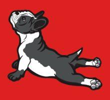 Boston Bull Terrier Puppy Black and White Kids Tee