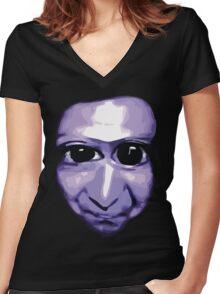 Ao Oni Women's Fitted V-Neck T-Shirt