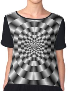 Concentric Rings in Monochrome Chiffon Top