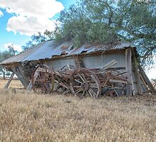 Days gone by... Old shed...Old Wagon by mitpjenkeating
