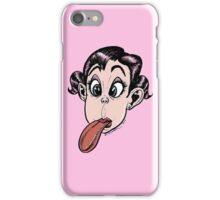 Girl Showing Tongue Moloriki.com Illustration iPhone Case/Skin