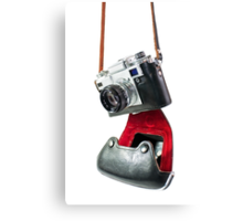 camera in red-black case Canvas Print