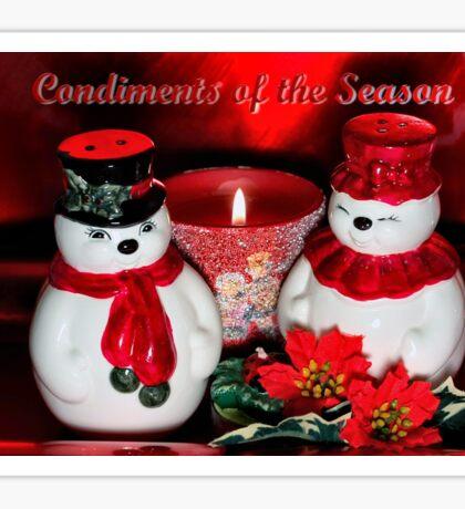 Condiments of the season  Sticker