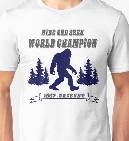 Big Foot Hide and Seek  Unisex T-Shirt