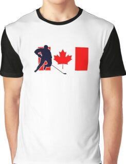 Canada - Canadian National Flag Hockey T-Shirt Top Graphic T-Shirt