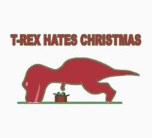 T REX HATES CHRISTMAS by redbuble2014