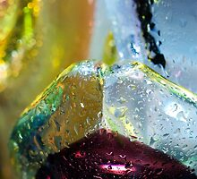 Abstract background. Glass and drops of water. by bashta