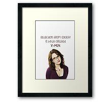 Rejection. Framed Print
