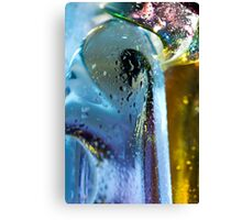 Abstract background. Glass and drops of water. Canvas Print