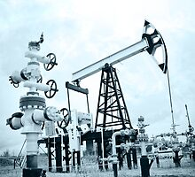 Pump jack and oilwell. by bashta