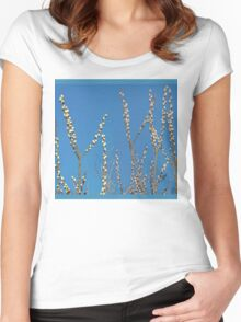 Blue Willow Sky Women's Fitted Scoop T-Shirt