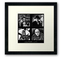 Original Art of Actor Christopher Lloyd Framed Print