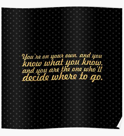 """You're on your... """"Dr. Seuss"""" Inspirational Quote Poster"""